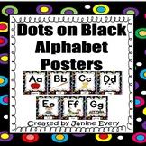 Alphabet Posters - Polka Dots on Black