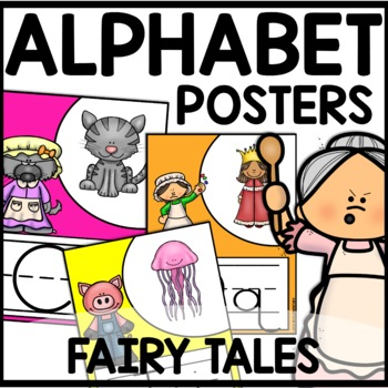 FAIRY TALE THEMED Alphabet Posters