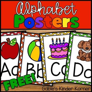 Alphabet Posters FREEBIE!!