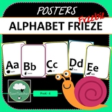 Alphabet Posters FREEBIE A-Z in Black & White with Silhoue