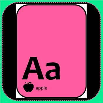 Alphabet Posters FREEBIE A-Z in Bright Colors with Silhouette Image Alphabet