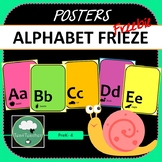 Alphabet Posters FREEBIE A-Z in Bright Colors with Silhoue