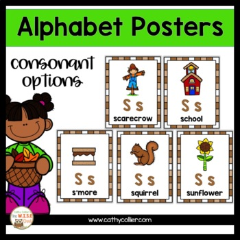 Alphabet Posters:  Fall