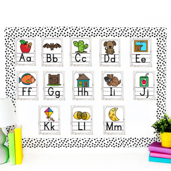 Alphabet Posters With and Without Arrows- Farmhouse Chic Style