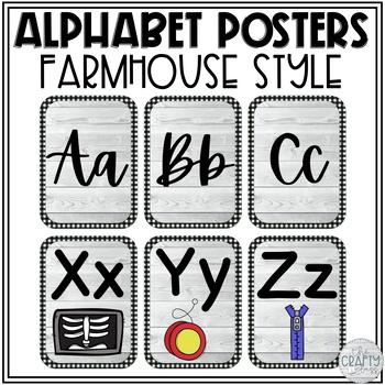 Farmhouse Alphabet Posters | Farmhouse Classroom Decor