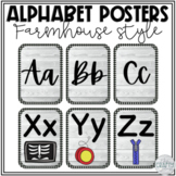 Farmhouse Alphabet Posters   Farmhouse Classroom Decor