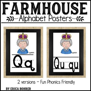 Alphabet Posters: Farmhouse Style