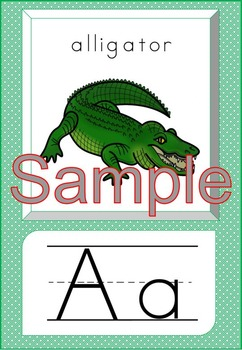 Alphabet Posters/Flash Cards and Worksheets