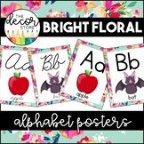 Alphabet Posters: Floral   Classroom Decor