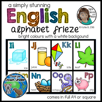 Alphabet Posters / Frieze in Crisp White