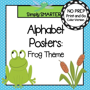 Alphabet Posters:  Frog Theme