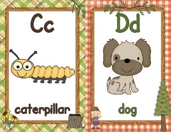 Alphabet Posters, Full / Half page  - Camping / Outdoors