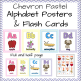 Alphabet Posters, Full / Half page & Flash Cards! Pastel &