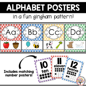 Alphabet Posters - Gingham Style