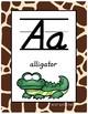 #roomdecor Classroom Decor Alphabet Posters - Giraffe Print - Animals - Italics