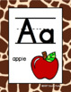 #roomdecor Classroom Decor Alphabet Posters - Giraffe Print - With Picture Clues
