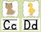 Alphabet Posters - Green