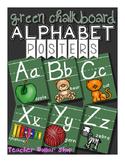 Alphabet Posters: Green Chalkboard