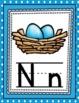 Alphabet Posters- Blue Polka Dots