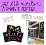 Alphabet Posters | Growth Mindset and Positive Classroom Quotes