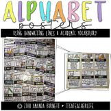 Alphabet Posters | Handwriting Lines & Academic Vocabulary