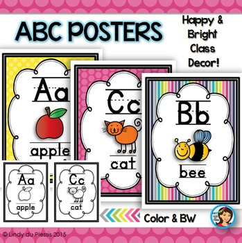 Alphabet Posters (Happy & Bright)