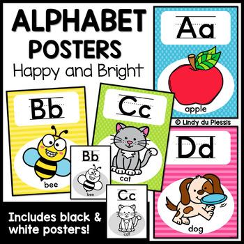 Alphabet Posters (Happy & Bright)
