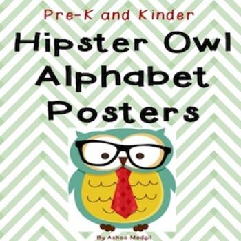 Alphabet Posters {Hipster Owl Chevron Theme}