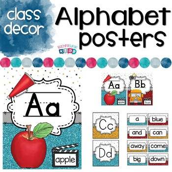 Alphabet Posters Hollywood Themed