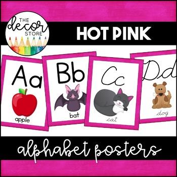 Alphabet Posters: Hot Pink | Classroom Decor