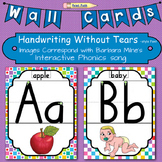 Alphabet Posters: Images - Milne's Phonics Song, Handwriting Without Tears style