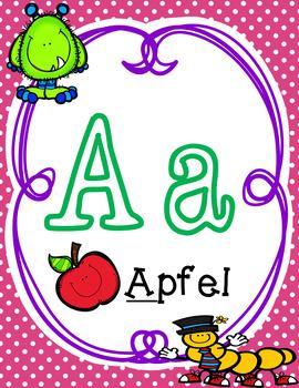 Alphabet Posters In German