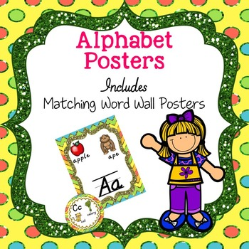Alphabet Posters- Includes Word Wall Posters