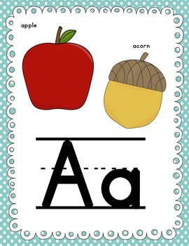 Alphabet Posters - Includes long and short vowel sounds
