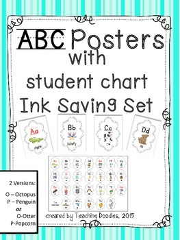 Alphabet Posters ~ Ink Saving Theme