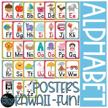 Alphabet Posters Kawaii Style