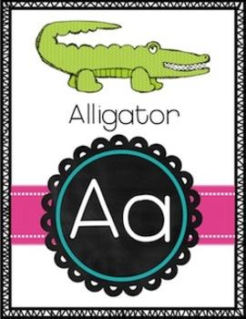 Alphabet Posters {Kindergaten Classroom} Back to School