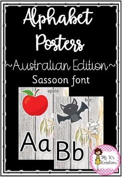 Alphabet Posters - Koala in a gum tree