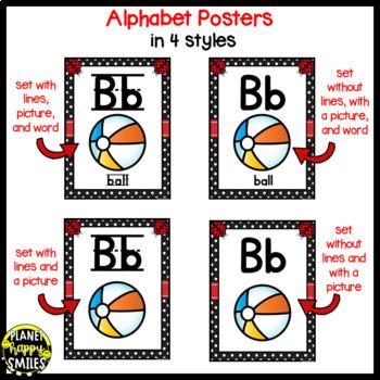 Alphabet Posters, Ladybug Theme