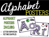 Alphabet Posters - Letter Formation Posters - Playdoh Mat Center