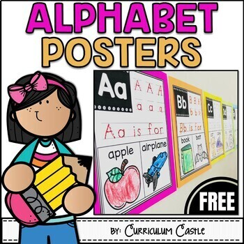 Alphabet Posters: Letters A to Z {FREEBIE}