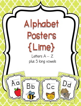Alphabet Posters {Lime}