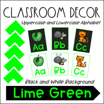 Alphabet Posters- Lime Green