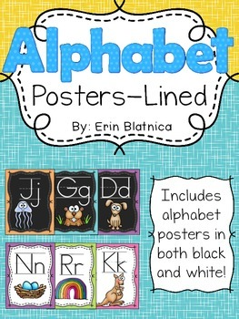 Alphabet Posters- Lined