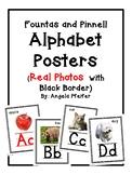 Alphabet Posters & Linking Chart Bundle (Photos/Black Border ) Fountas & Pinnell