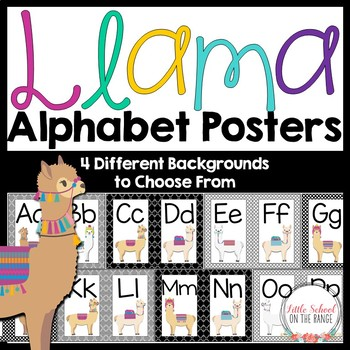 Alphabet Posters - Llama Classroom Decor