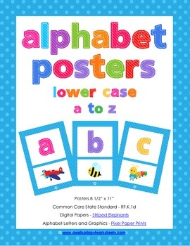 Alphabet Posters - Lower Case Letters