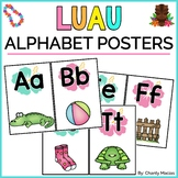 Alphabet Posters Luau/Hawaiian {FREEBIE}