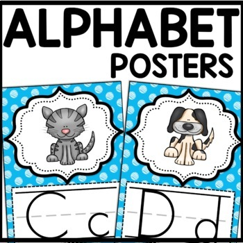 Alphabet Posters MIX AND MATCH (AQUA Scribble)