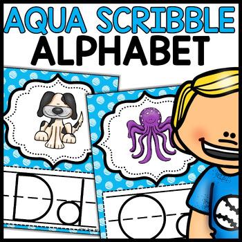Alphabet Posters MIX AND MATCH (AQUA Scribble)